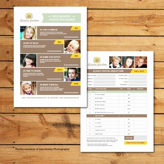 Photography order form Template Luxury order form School Photos and Templates On Pinterest