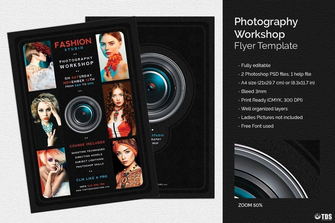 Photography Shot List Template Fresh Graphy Workshop Flyer Template for Shop Design Psd V2