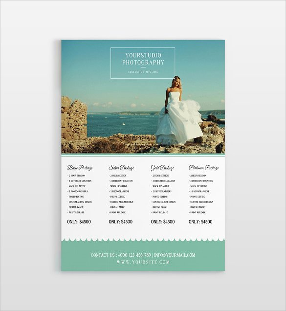 Photography Shot List Template Fresh Sample Wedding Price List 16 Documents In Pdf Word Psd