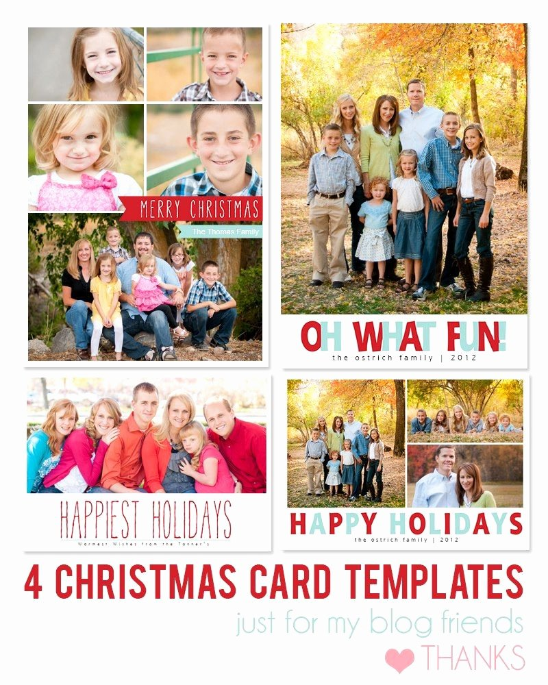 Photoshop Christmas Card Templates Awesome Free Shop Holiday Card Templates From Mom and Camera