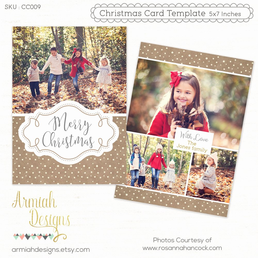 Photoshop Christmas Card Templates Best Of Digital Shop Christmas Card Template for Photographers