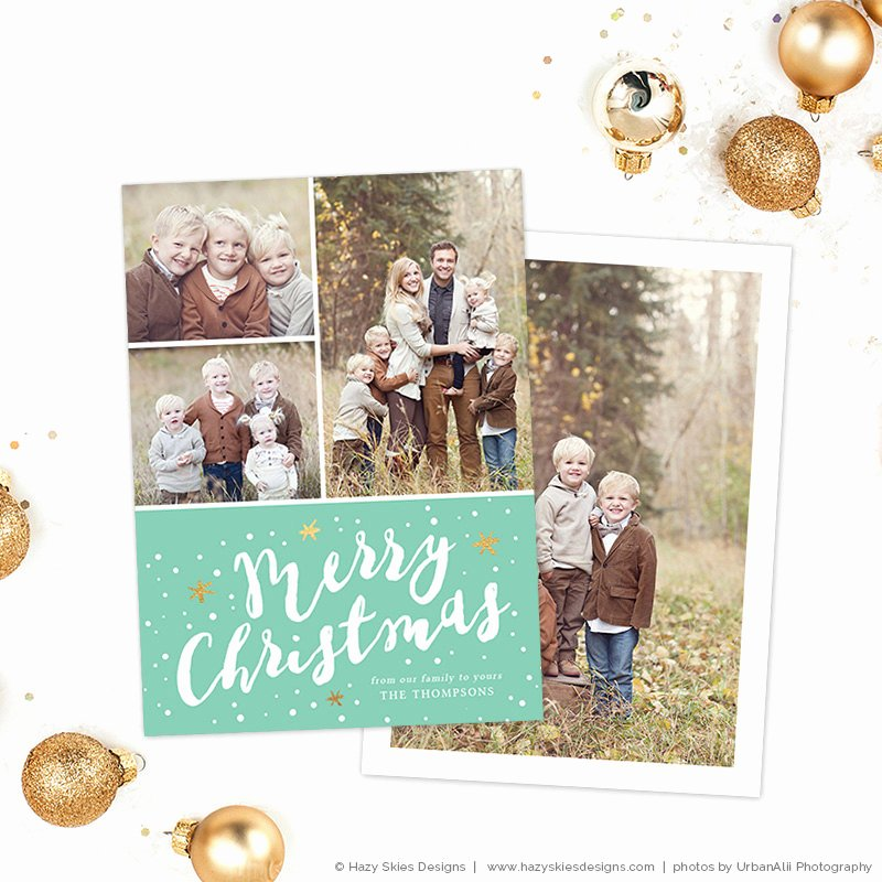 Photoshop Christmas Card Templates Elegant Christmas Card Template for Shop by Hazyskiesdesigns