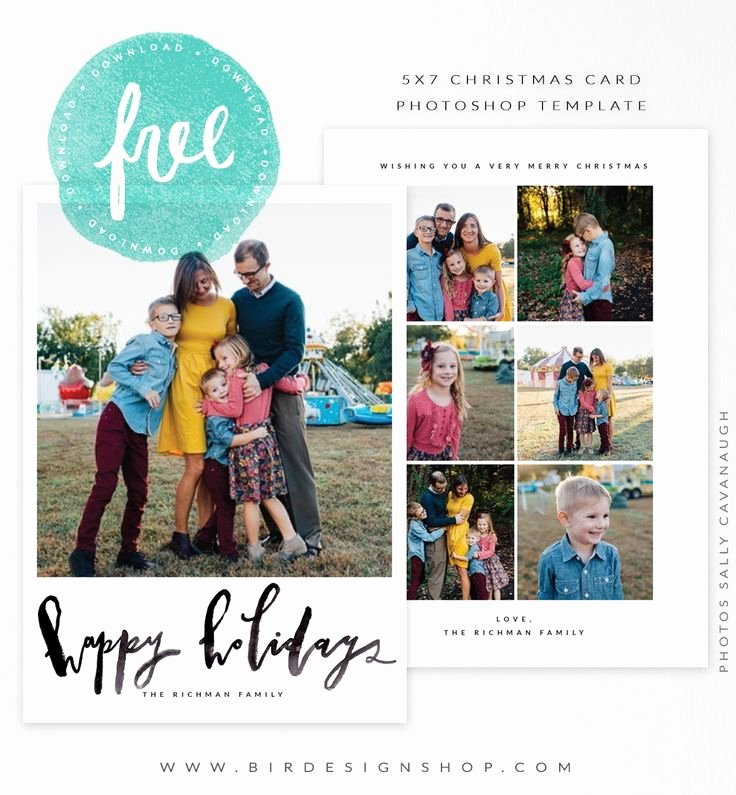 Photoshop Christmas Card Templates Inspirational November Freebie 5x7 Christmas Card Template