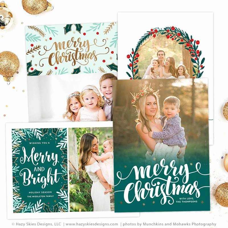 Photoshop Christmas Card Templates Luxury Christmas Card Templates