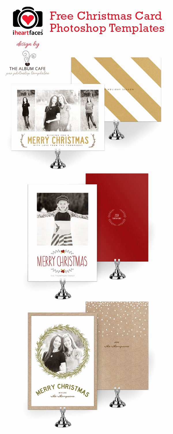 Photoshop Christmas Card Templates New 50 Free Holiday Card Templates Moritz Fine Designs