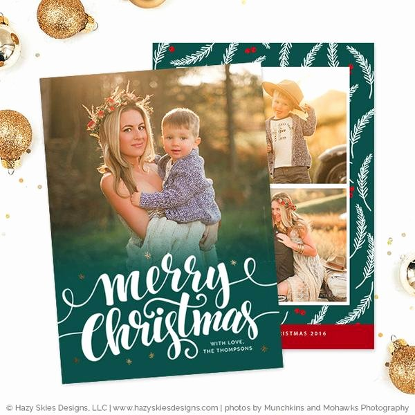Photoshop Christmas Card Templates New Christmas Card Templates