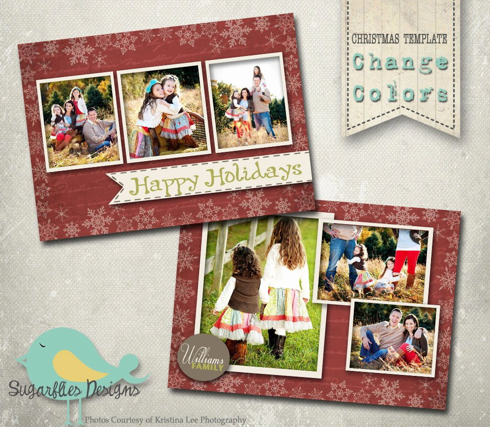 Photoshop Christmas Card Templates Unique Christmas Card Photoshop Template Family Christmas Card Wish