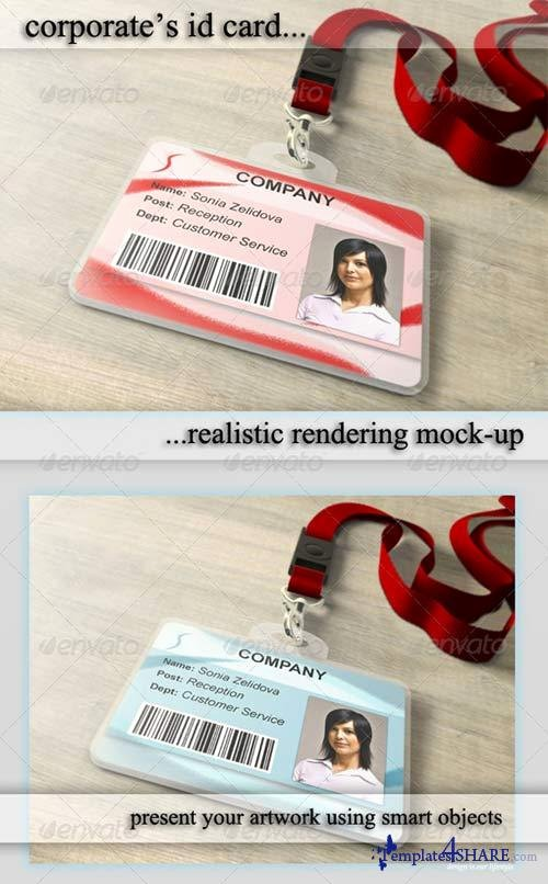 Photoshop Id Card Template Best Of Graphicriver Id Card Holder Mockup Templates4share Free Web Templates themes and