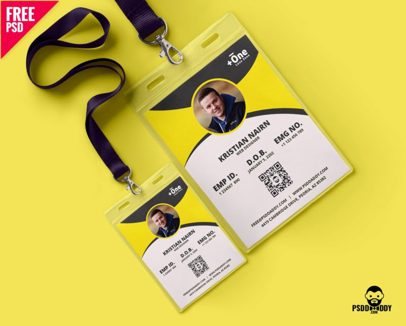 Photoshop Id Card Template Inspirational [download] Identity Card Free Psd
