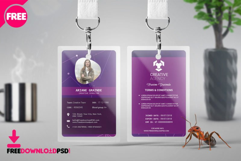 Photoshop Id Card Template Lovely [free] Id Card Psd Template