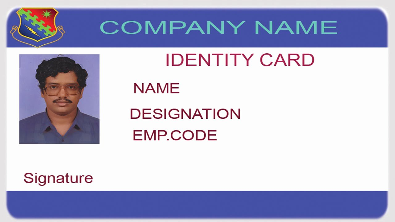 Photoshop Id Card Template Unique How to Design An Id Card Using Shop with English Subtitles