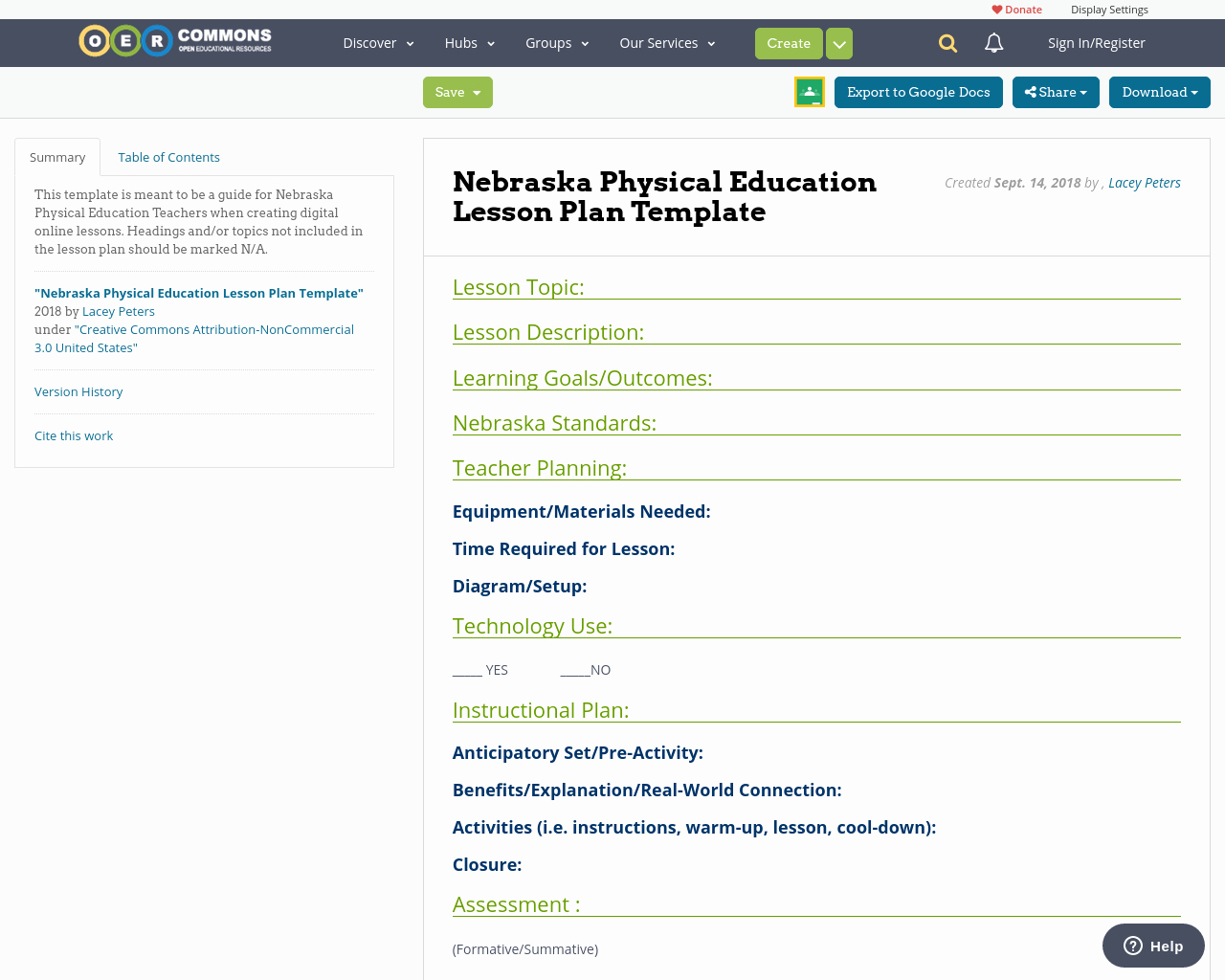 Phys Ed Lesson Plan Template Lovely Nebraska Physical Education Lesson Plan Template