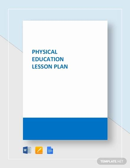 Physical Education Lesson Plan Template Beautiful Sample Physical Education Lesson Plan 14 Examples In Pdf Word format