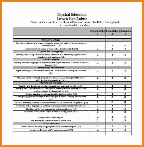 Physical Education Lesson Plan Template Elegant 7 Education Curriculum Template