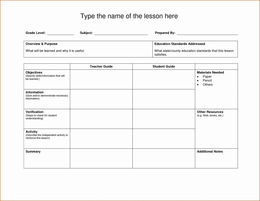 Physical Education Lesson Plan Template Luxury Blank Lesson Plan Template for Physical Education – Pe Lesson Plan Template Blank New Fine