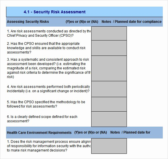 Physical Security Policy Template Elegant Free 12 Sample Security Risk assessment Templates In Pdf