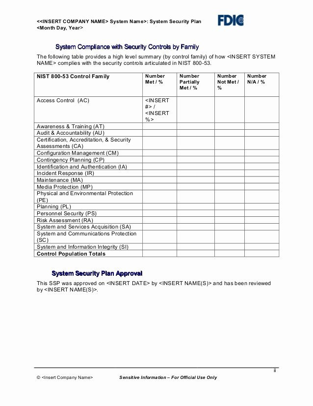 Physical Security Policy Template Inspirational It Security Plan Template