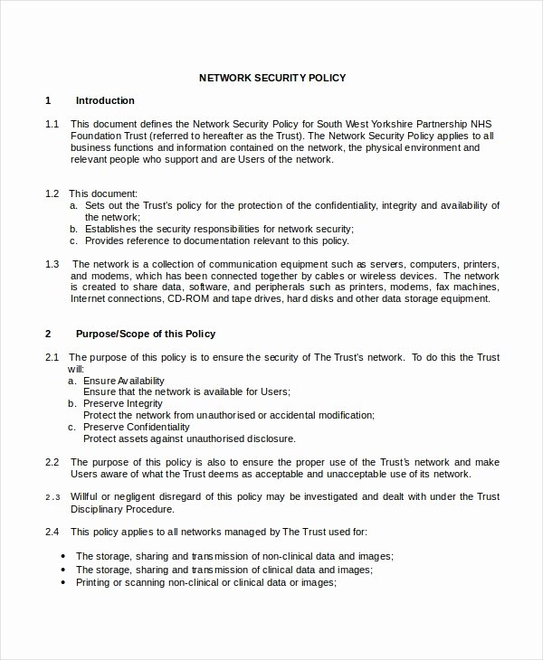 Physical Security Policy Template Inspirational Security Policy Template 7 Free Word Pdf Document Downloads