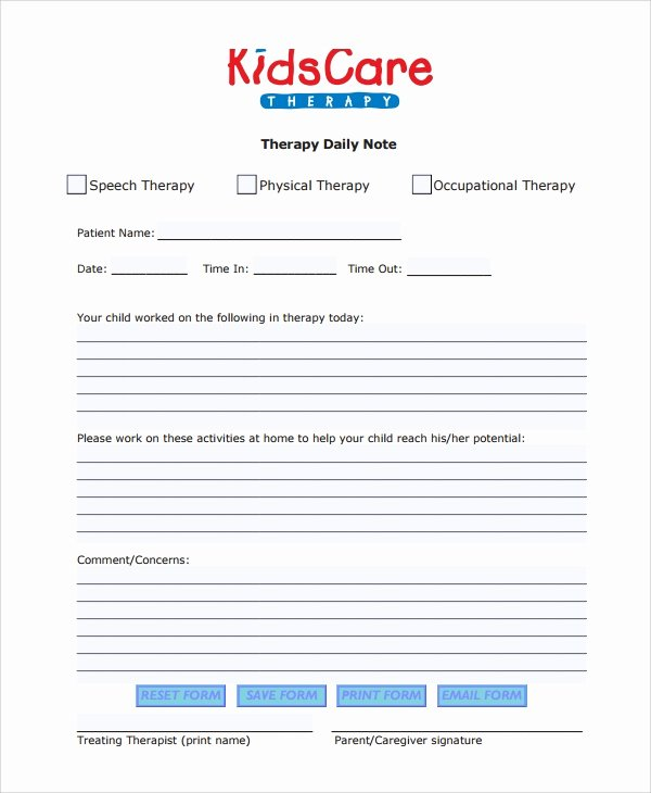 Physical therapy Progress Note Template Awesome Sample therapy Note Template 5 Free Documents Download In Pdf Word