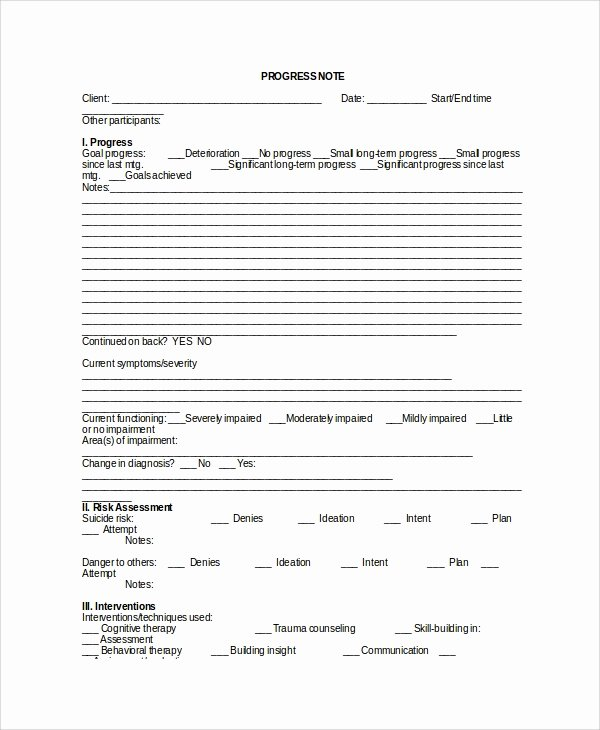 Physical therapy Progress Note Template Beautiful Sample therapy Note Template 5 Free Documents Download In Pdf Word