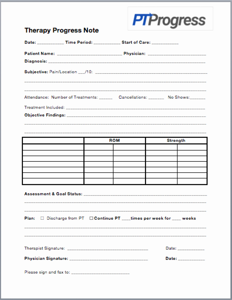 Physical therapy Progress Note Template Lovely How to Write A Progress Note