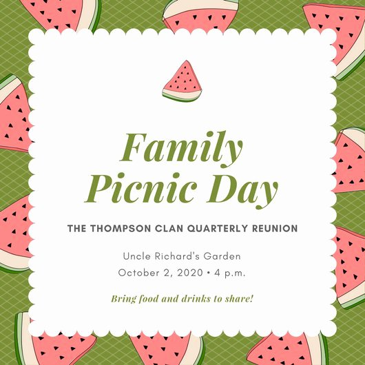Picnic Invitation Template Free Awesome Customize 108 Picnic Invitation Templates Online Canva