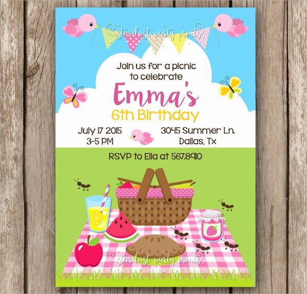 Picnic Invitation Template Free Beautiful 10 Picnic Invitation Templates Word Psd Ai