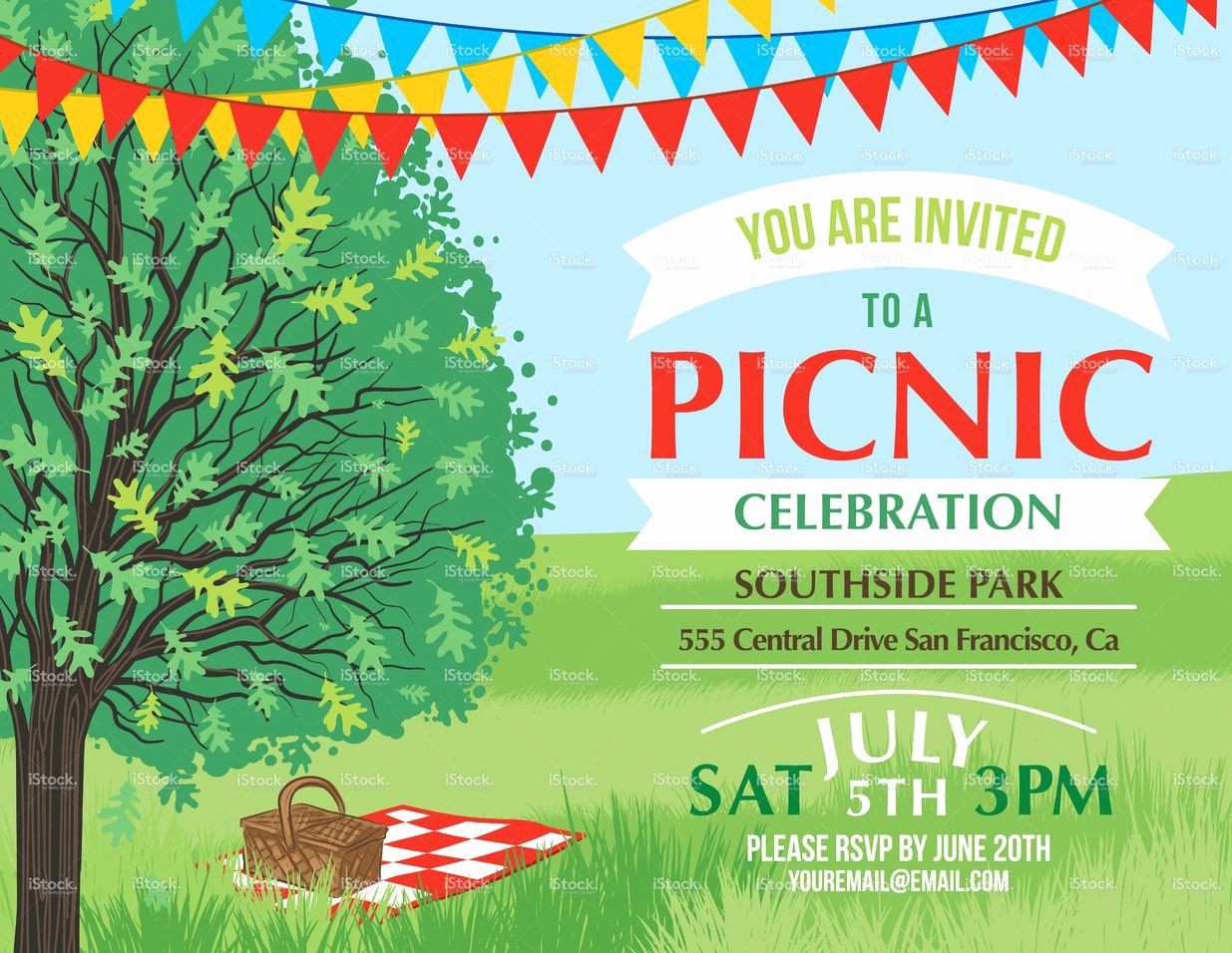 Picnic Invitation Template Free Best Of Summer Picnic and Bbq Invitation Flyer or Template Text is On Its