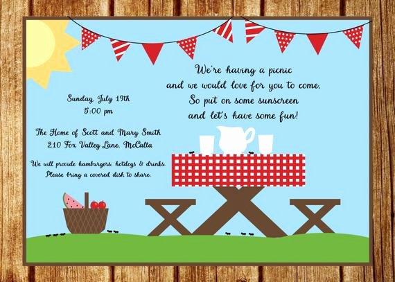 Picnic Invitation Template Free Elegant Summer Picnic Invitation Summer Party Invitation Custom Park