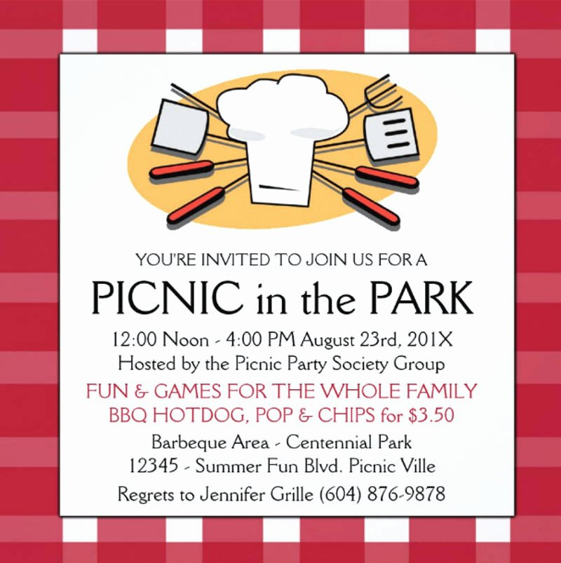 picnic invitation design