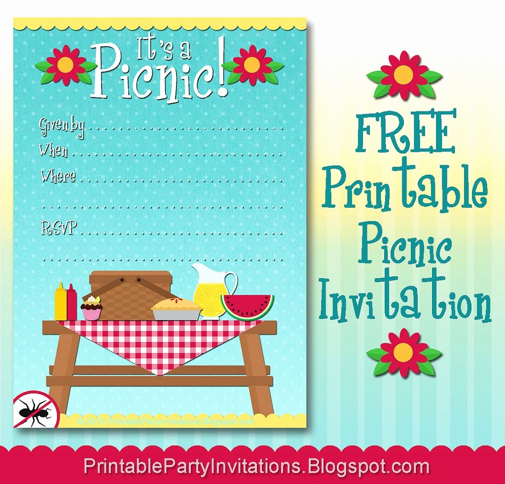 Picnic Invitation Template Free Unique Free Printable Picnic Invitation ornaments