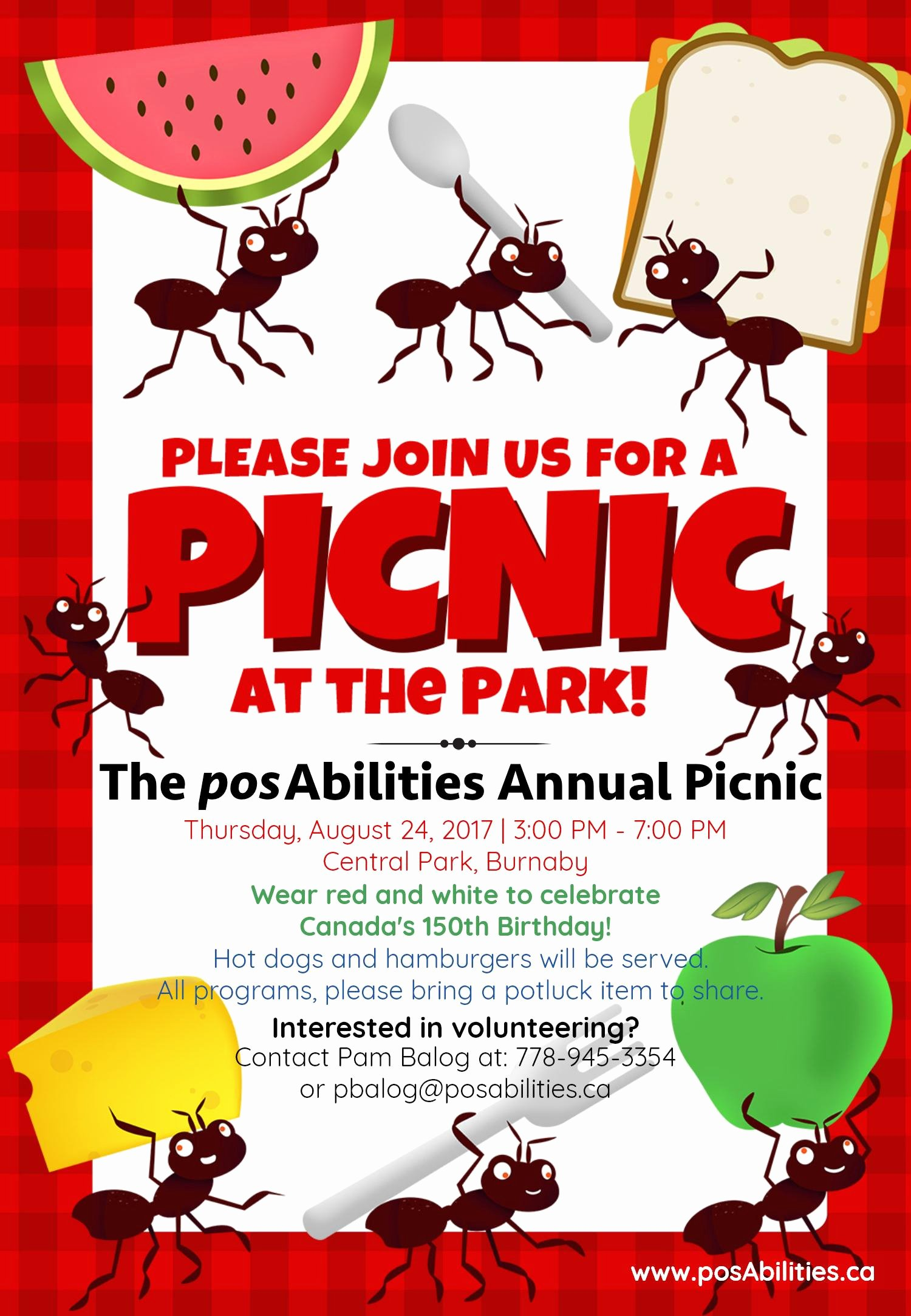 Picnic Invitation Templates Free Elegant Posabilities Annual Picnic at the Park Posabilities
