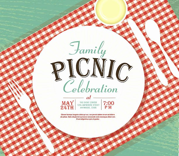 Picnic Invitation Templates Free Fresh Best Family Reunion Illustrations Royalty Free Vector