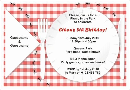 Picnic Invitation Templates Free Lovely Free Printable Picnic Invitations Templates
