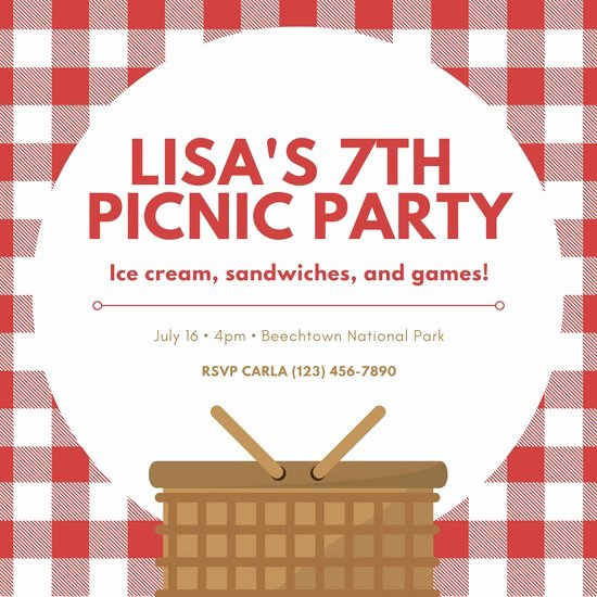 Picnic Invitation Templates Free New Customize 70 Picnic Invitation Templates Online Canva