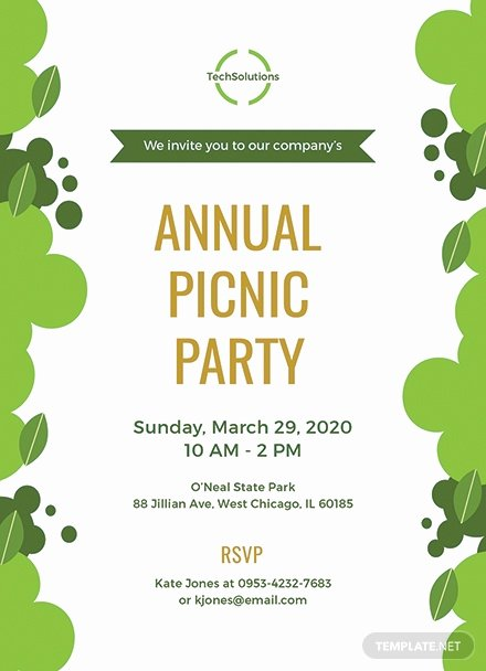 Picnic Invitations Templates Free Awesome Free Fice Picnic Invitation Template Download 344 Invitations In Word Publisher