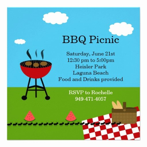 Picnic Invitations Templates Free Beautiful Bbq Party Invitation Templates Free