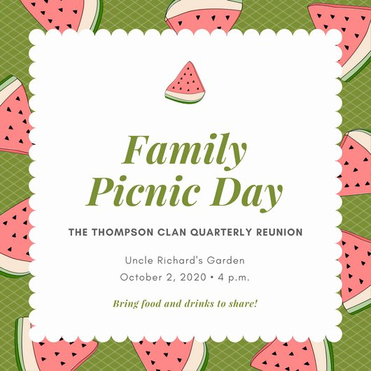 Picnic Invitations Templates Free Best Of Customize 108 Picnic Invitation Templates Online Canva