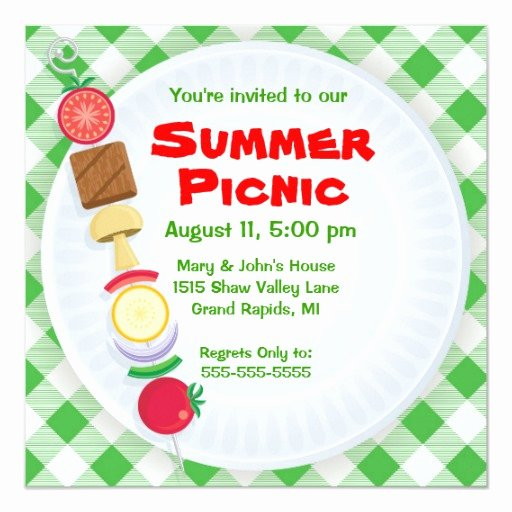 Picnic Invitations Templates Free Inspirational Summer Picnic Invitation