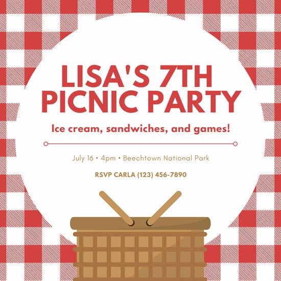 Picnic Invitations Templates Free Lovely Customize 70 Picnic Invitation Templates Online Canva