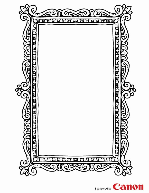 Picture Frame Template Free Inspirational Craft Templates for Kids Picture Frame 3
