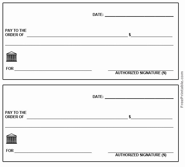 Picture Of A Blank Check Awesome 28 Of Check Template Pdf