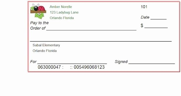 Picture Of A Blank Check Beautiful Blank Checks Template Printable Play Checks for Kids Breakout Edu Resources