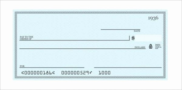 Picture Of A Blank Check Inspirational 26 Blank Check Template Doc Psd Pdf & Vector formats