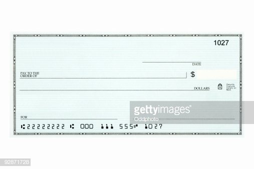 Picture Of A Blank Check Inspirational Closeup Blank Bank Check Sample Against White Background High Res Stock Getty