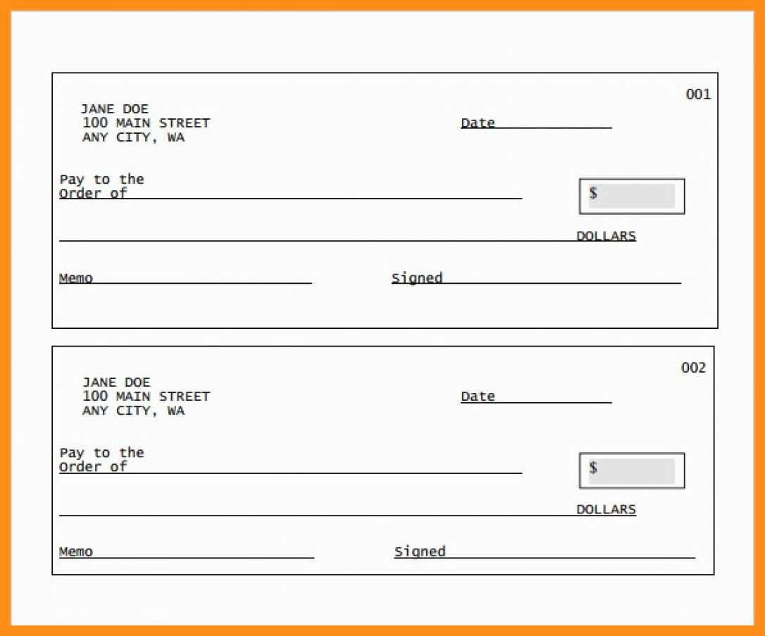 Picture Of A Blank Check Lovely 12 13 Blank Cheque Template Editable
