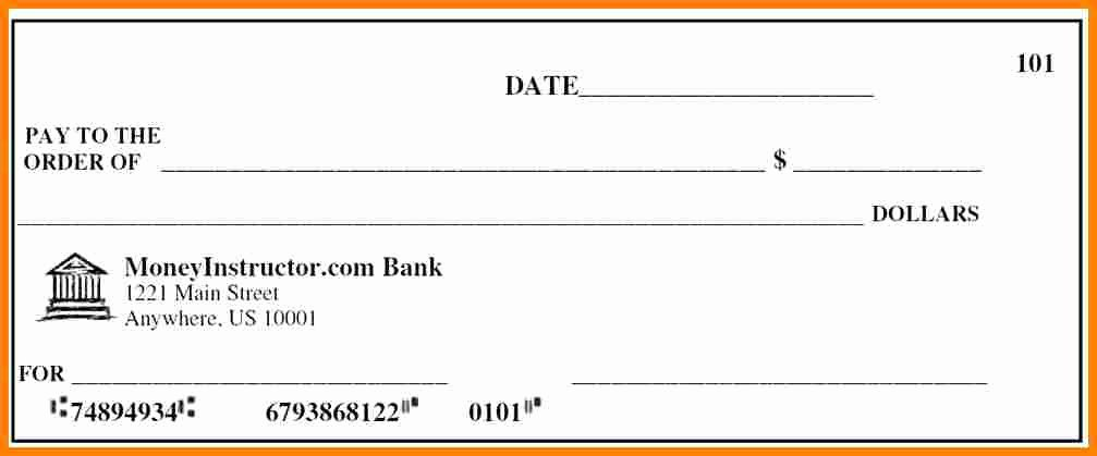 Picture Of A Blank Check Luxury 5 Fake Payroll Check Template