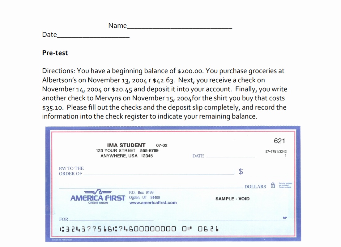 Picture Of A Blank Check New Week 15