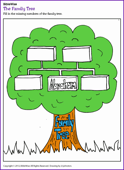 Picture Of A Family Tree Inspirational Abraham S Family Tree Kids Korner Biblewise