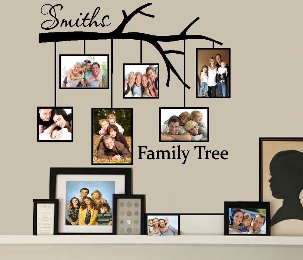 Picture Of Family Tree Beautiful Family Tree with Picture Frames Custom Name Wall or